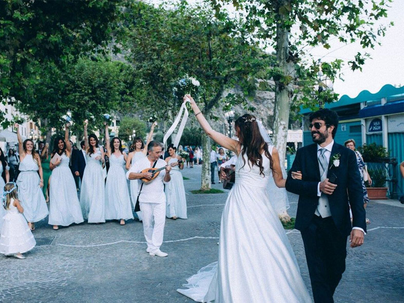 International wedding in Amalfi Coast at Torre Normanna