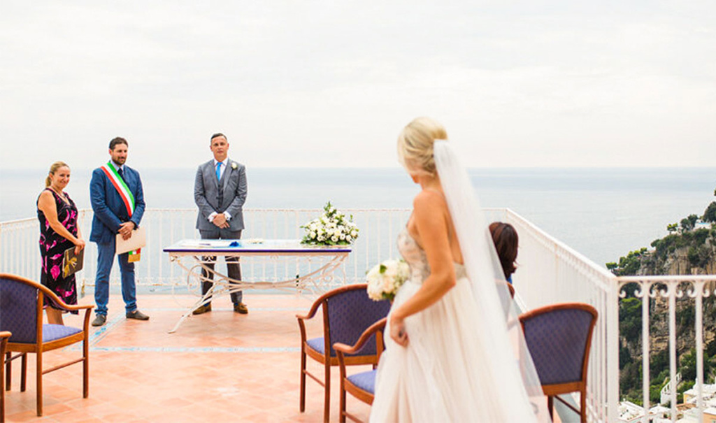 civil wedding positano